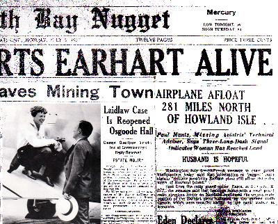 amelia earhart news articles from 1937